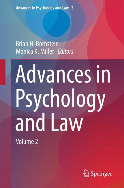 Advances in Psychology and Law | Bornstein / Miller | 1st ed. 2016, 2016 | Buch (Cover)