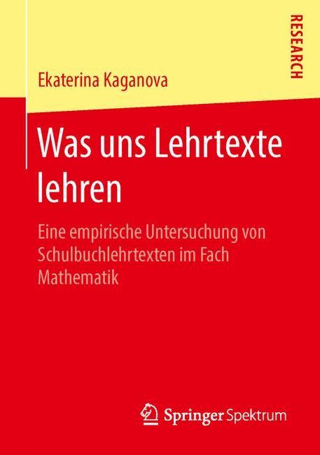 Was uns Lehrtexte lehren | Kaganova, 2016 | Buch (Cover)