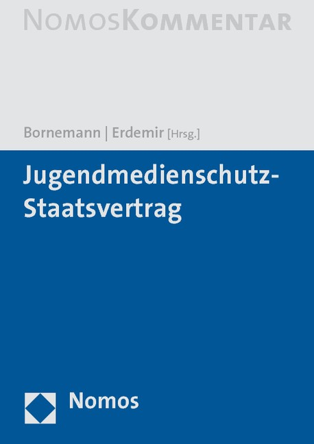 Jugendmedienschutz-Staatsvertrag | Bornemann / Erdemir, 2016 | Buch (Cover)
