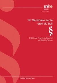 19e séminaire sur le droit du bail, 2016 | Buch (Cover)