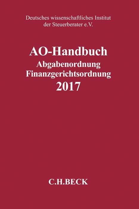 AO-Handbuch 2017, 2017 | Buch (Cover)