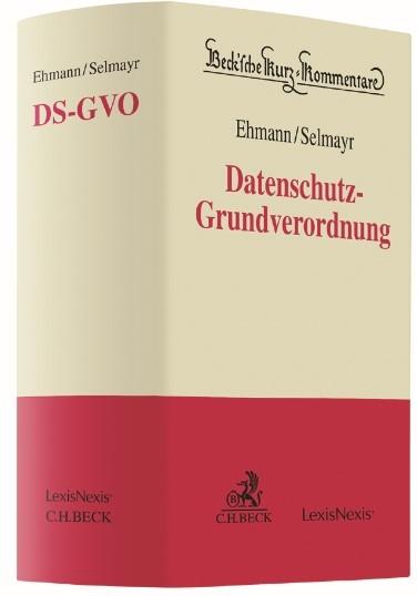 Datenschutz-Grundverordnung: DS-GVO | Ehmann / Selmayr, 2017 | Buch (Cover)