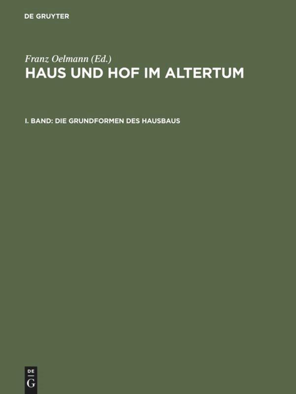 Die Grundformen des Hausbaus | Oelmann | Reprint 2016, 1927 | Buch (Cover)