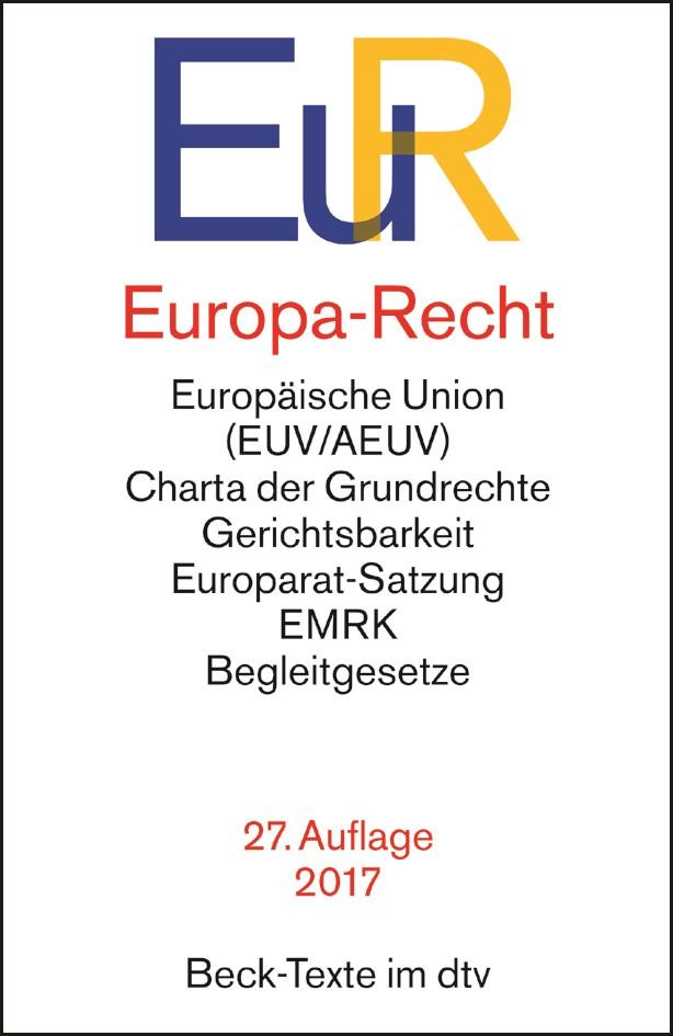 Europa-Recht: EuR | 27., neubearbeitete Auflage, 2017 | Buch (Cover)