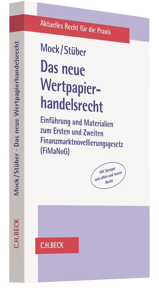 Das neue Wertpapierhandelsrecht | Mock / Stüber, 2017 | Buch (Cover)