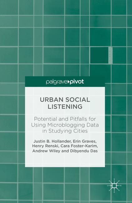 Abbildung von Hollander / Graves / Renski | Urban Social Listening | 1st ed. 2016 | 2016