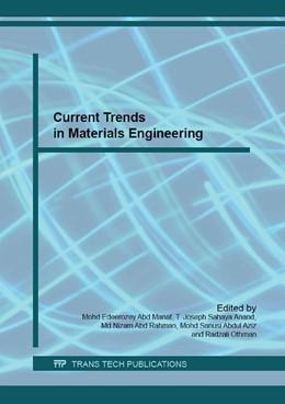 Abbildung von Abd Manaf / Anand / Abd Rahman / Aziz / Othman | Current Trends in Materials Engineering | 2016 | Volume 694