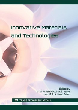 Abbildung von Al Bakri Abdullah / Yahya | Innovative Materials and Technologies | 1. Auflage | 2016 | Volume 700 | beck-shop.de