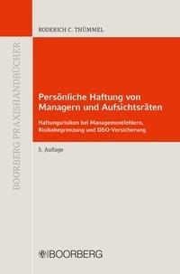 Persönliche Haftung von Managern und Aufsichtsräten   Thümmel   5., völlig neu bearbeitete Auflage, 2016   Buch (Cover)