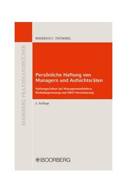 Abbildung von Thümmel | Persönliche Haftung von Managern und Aufsichtsräten | 5. Auflage | 2016 | beck-shop.de