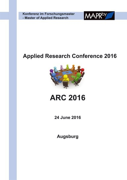 Applied Research Conference 2016 | Mottok / Reichenberger / Stolle, 2016 | Buch (Cover)