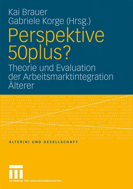 Perspektive 50plus? | Brauer / Korge, 2008 | Buch (Cover)