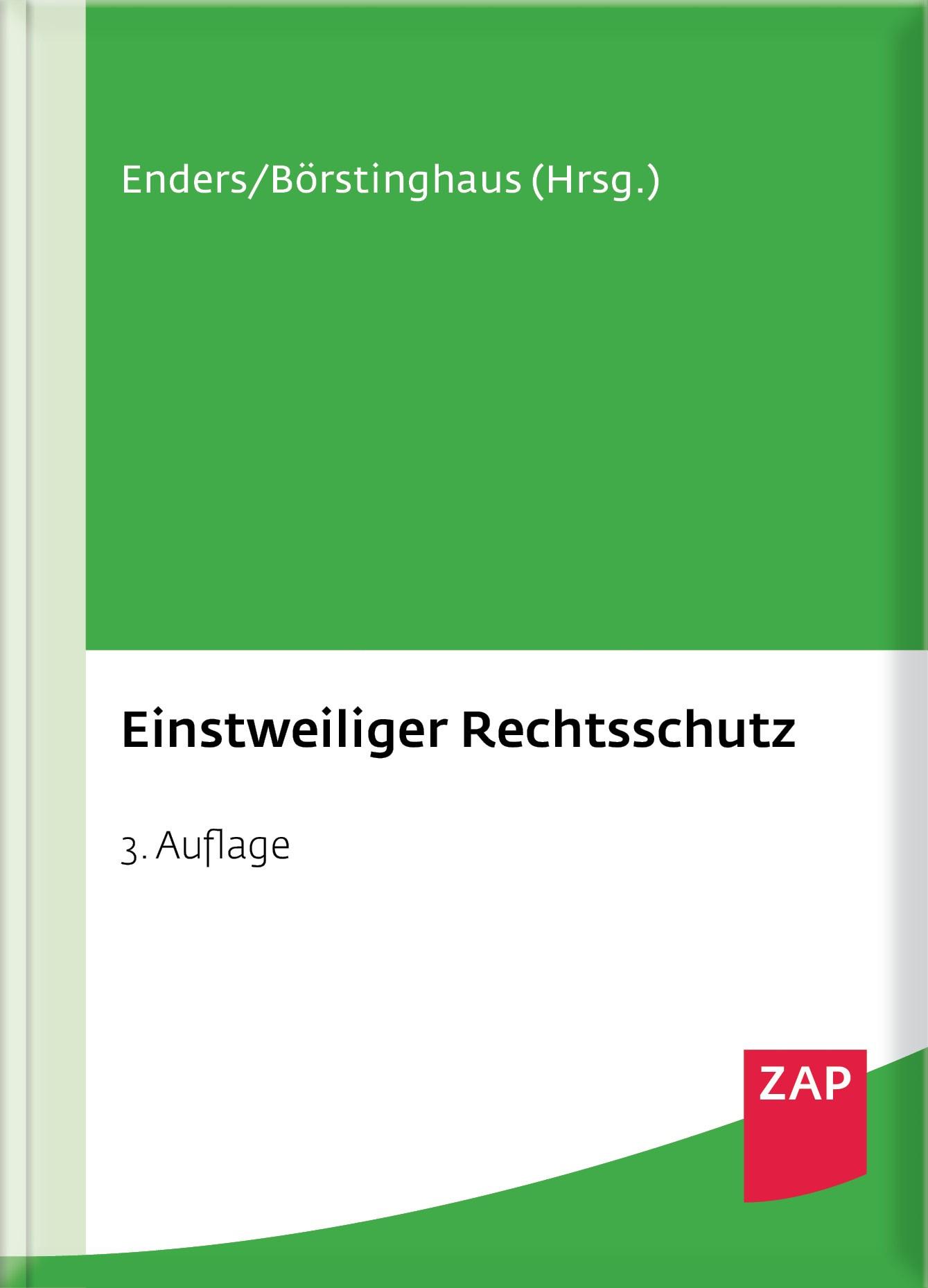 Einstweiliger Rechtsschutz | Achsnick / Enders / Börstinghaus | 3. Auflage, 2016 | Buch (Cover)