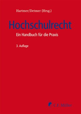 Abbildung von Hartmer / Detmer (Hrsg.)   Hochschulrecht   3. Auflage   2016   beck-shop.de