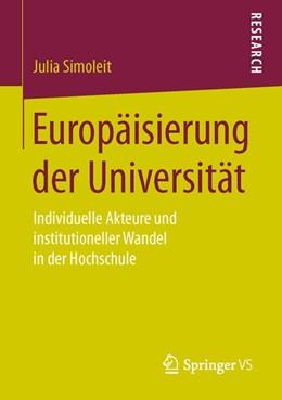 Abbildung von Simoleit   Europäisierung der Universität   1. Auflage   2016   beck-shop.de