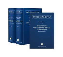 Abbildung von Staehelin / Bauer | Bundesgesetz über Schuldbetreibung und Konkurs I (Art. 1-158 SchKG) + II (Art. 159-352 SchKG) + Ergänzungsband • Set | 2. Auflage | 2016 | beck-shop.de