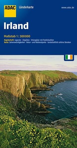 ADAC LänderKarte Irland 1 : 300 000 | 5. Auflage, 2016 (Cover)