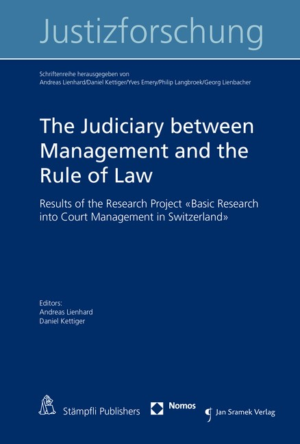 The Judiciary between Management and the Rule of Law | Lienhard / Kettiger, 2016 | Buch (Cover)