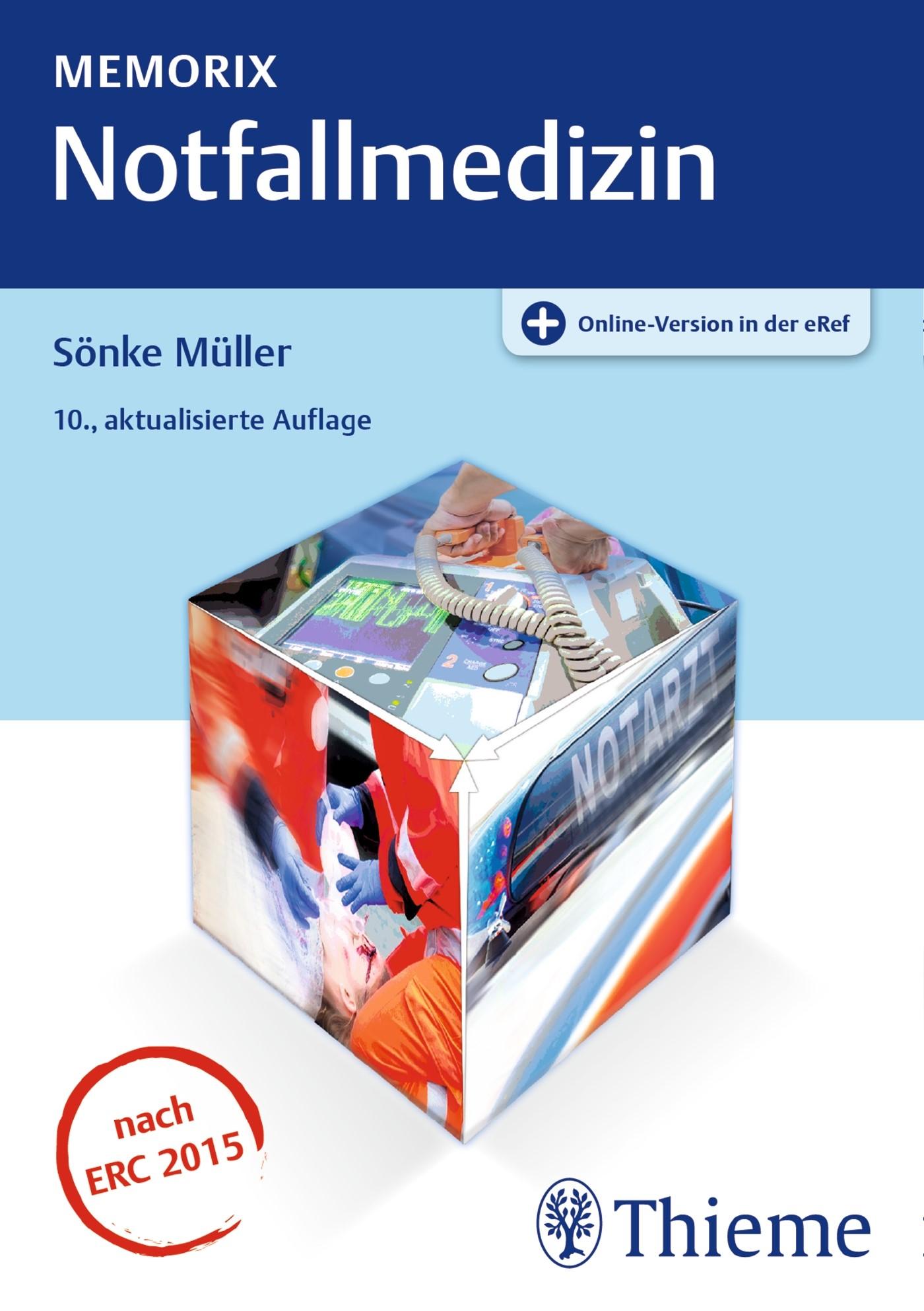 Memorix Notfallmedizin | Müller | 10., aktualisierte Auflage, 2017 (Cover)