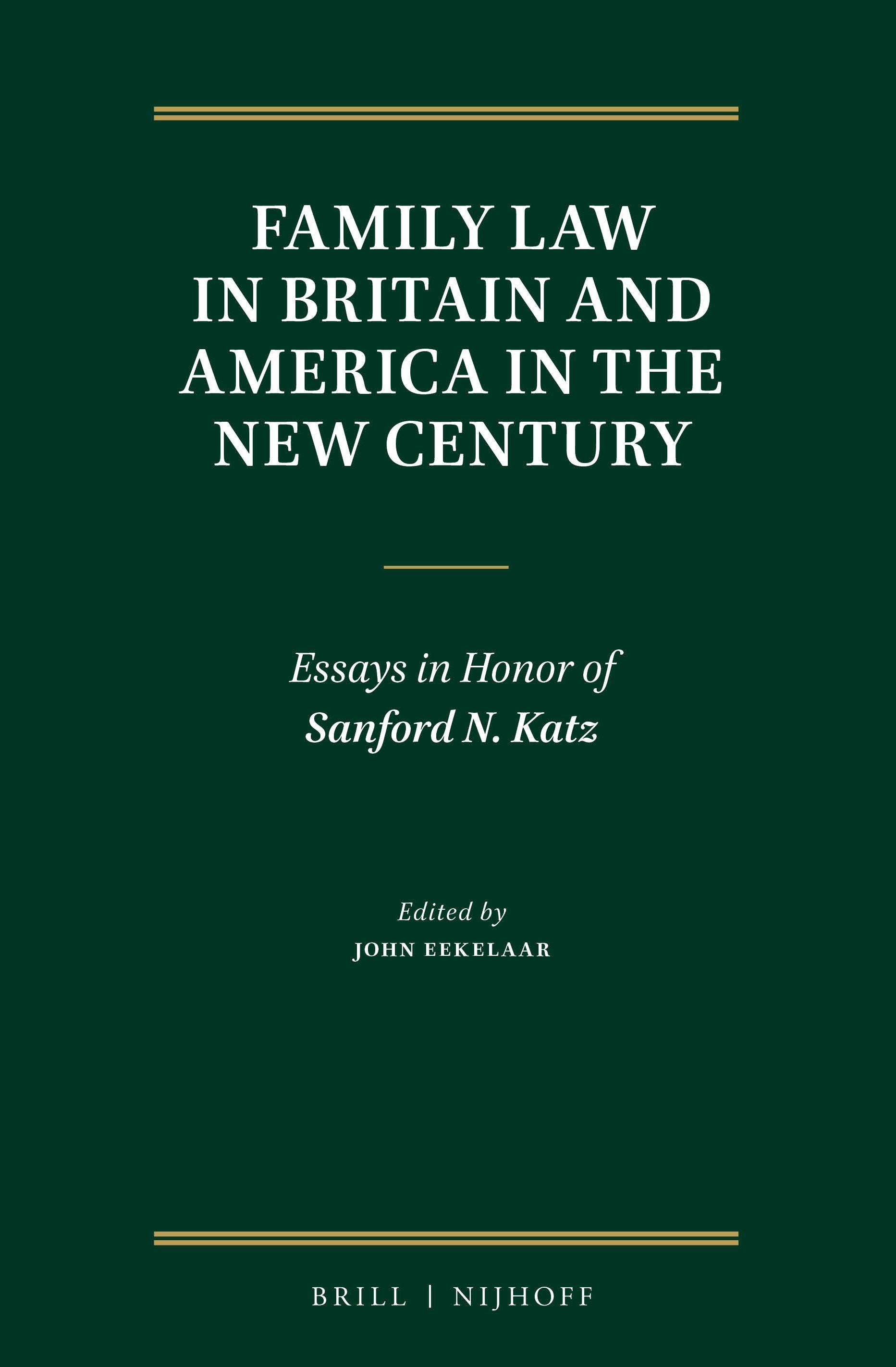 Abbildung von Eekelaar | Family Law in Britain and America in the New Century | 2016