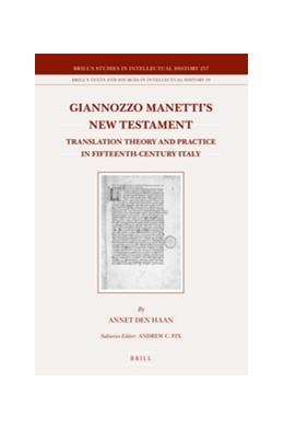 Abbildung von den Haan | Giannozzo Manetti's New Testament | 2016 | Translation Theory and Practic... | 257/19