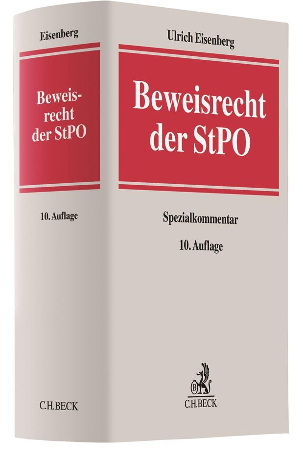 Beweisrecht der StPO | Eisenberg | 10., vollständig überarbeitete und teilweise erweiterte Auflage, 2017 | Buch (Cover)