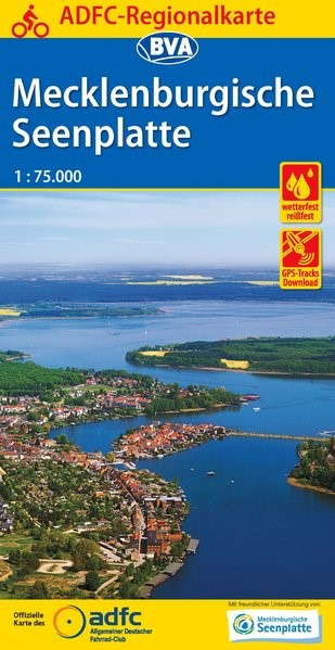 Abbildung von ADFC-Regionalkarte Mecklenburgische Seenplatte 1:75.000 | 8. Auflage | 2016