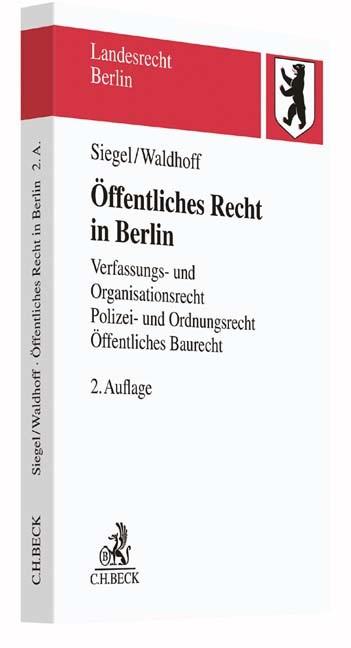 Öffentliches Recht in Berlin | Siegel / Waldhoff | 2. Auflage, 2016 | Buch (Cover)