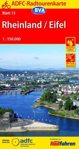 Abbildung von ADFC-Radtourenkarte 15 Rheinland / Eifel 1 : 150 000 | 13. Auflage | 2016