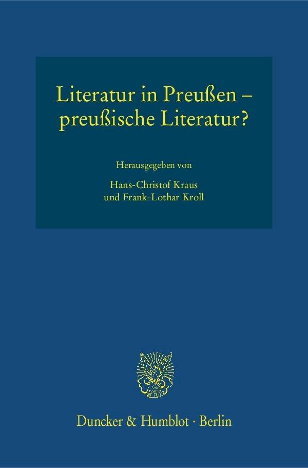 Abbildung von Kraus / Kroll | Literatur in Preußen – preußische Literatur? | 2016