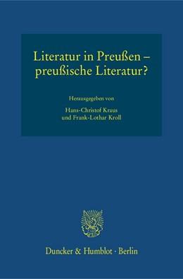 Abbildung von Kraus / Kroll   Literatur in Preußen – preußische Literatur?   2016