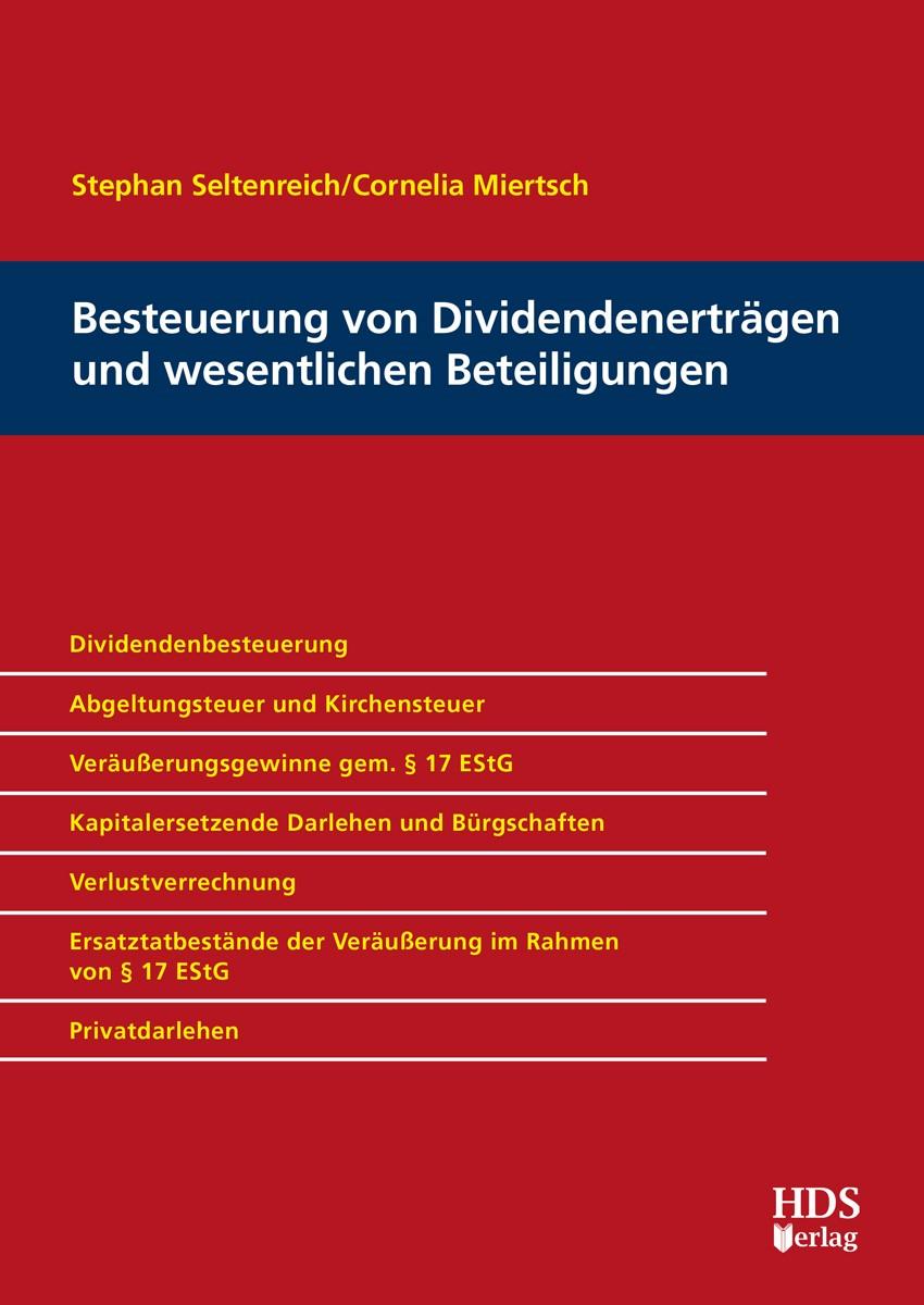 Besteuerung von Dividendenerträgen und wesentlichen Beteiligungen | Seltenreich / Miertsch, 2017 (Cover)