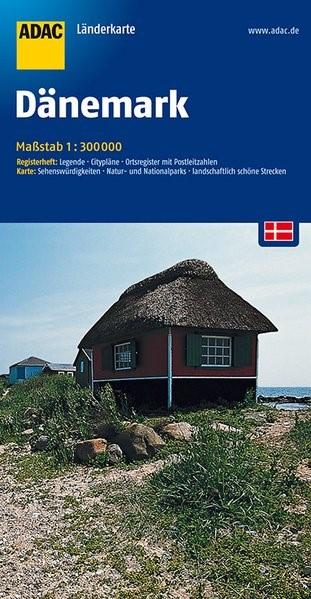 ADAC LänderKarte Dänemark 1 : 300 000 | 5. Auflage, 2016 (Cover)