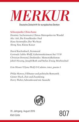 Abbildung von Demand | MERKUR Deutsche Zeitschrift für europäisches Denken - 2016-08 | 1. Auflage | 2016 | beck-shop.de