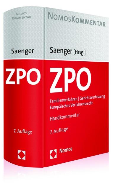 Zivilprozessordnung: ZPO | Saenger (Hrsg.) | 7. Auflage, 2017 | Buch (Cover)