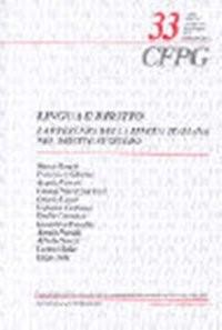 Lingua e diritto | Borghi / Sabatini / Ferrari / Pedrazzini Rizzi / Lurati / Centonze / Catenazzi / Raveglia / Petralli / Snozzi / Mader / Erba | Buch (Cover)