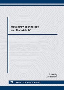 Abbildung von Harun   Metallurgy Technology and Materials IV   1. Auflage   2016   Volume 867   beck-shop.de