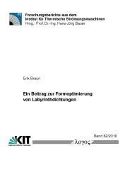 Ein Beitrag zur Formoptimierung von Labyrinthdichtungen | Braun, 2016 | Buch (Cover)
