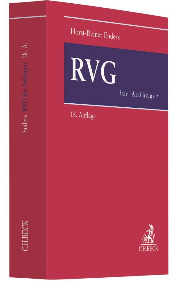 RVG für Anfänger | Enders | 18., überarbeitete Auflage, 2017 | Buch (Cover)