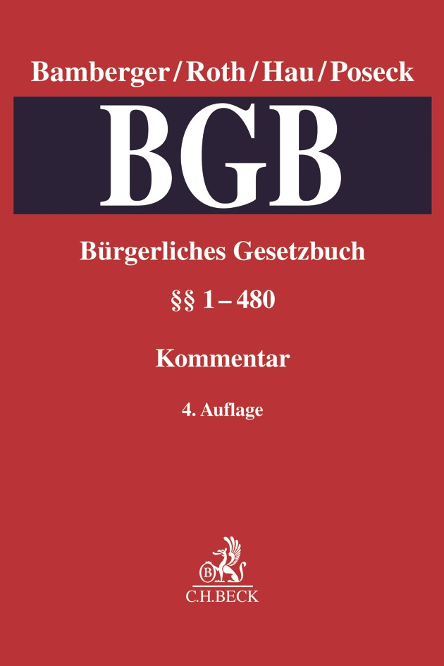Abbildung von Bamberger / Roth / Hau / Poseck | Bürgerliches Gesetzbuch: BGB,  Band 1: §§ 1-480 | 4. Auflage | 2019