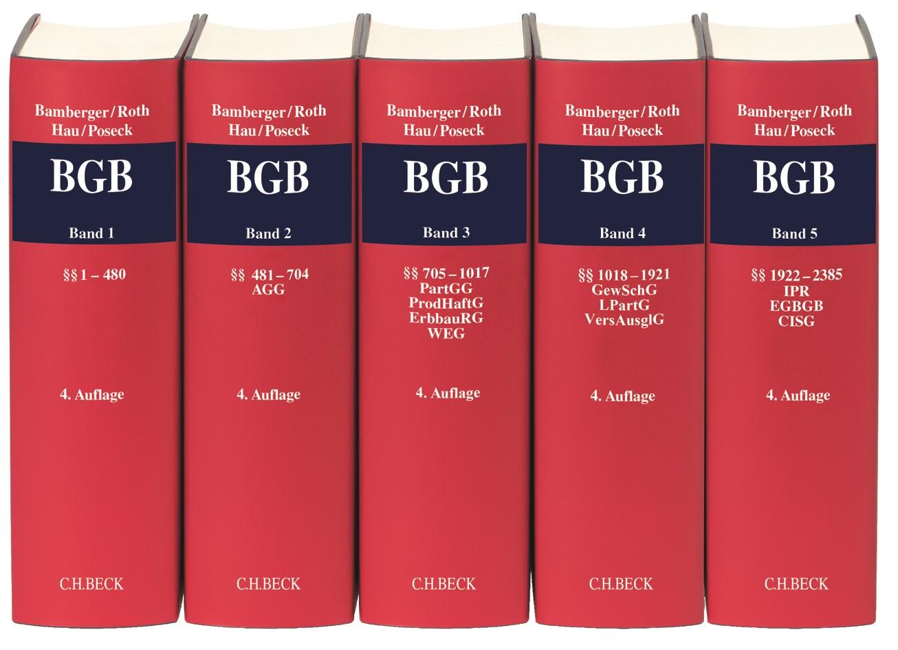 Kommentar zum Bürgerlichen Gesetzbuch: BGB | Bamberger / Roth / Hau / Poseck | 4. Auflage, 2019 | Buch (Cover)