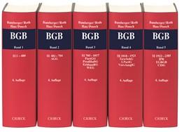 Abbildung von Bamberger / Roth / Hau / Poseck | Bürgerliches Gesetzbuch: BGB | 4. Auflage | 2019 | Gesamtwerk in 5 Bänden