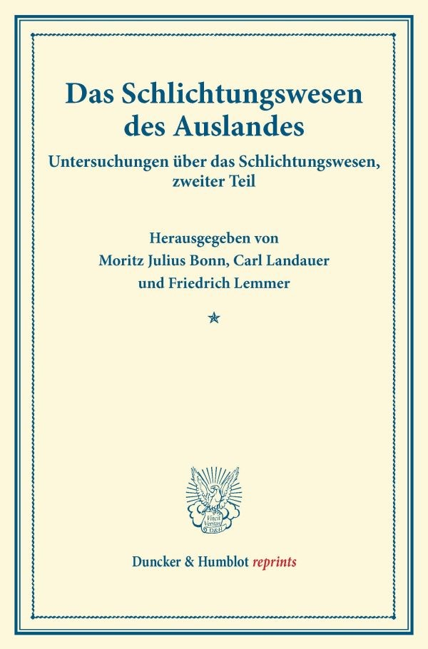 Abbildung von Bonn | Das Schlichtungswesen des Auslandes | 2016