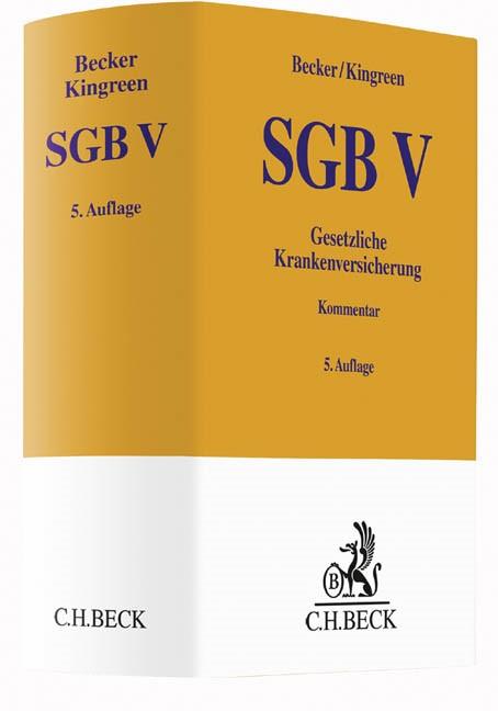 SGB V • Gesetzliche Krankenversicherung | Becker / Kingreen | 5., neu bearbeitete Auflage, 2016 | Buch (Cover)
