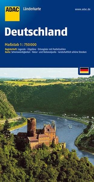 ADAC LänderKarte Deutschland 1 : 750 000 | 13. Auflage, 2016 (Cover)
