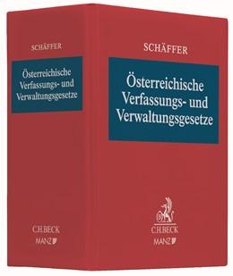Abbildung von Schäffer | Österreichische Verfassungs- und Verwaltungsgesetze | 89. Auflage | 2019 | Die wichtigsten Vorschriften d...