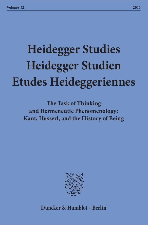 Abbildung von Emad / Herrmann / Coriando / Schalow / David / Schüßler   Heidegger Studies / Heidegger Studien / Etudes Heideggeriennes   2016
