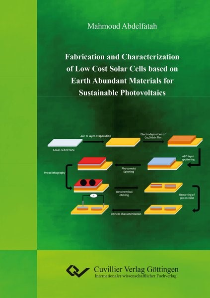 Fabrication and Characterization of Low Cost Solar Cells based on Earth Abundant Materials for Sustainable Photovoltaics | Abdelfatah, 2016 | Buch (Cover)