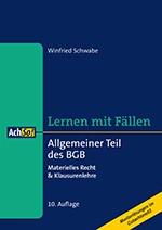 Allgemeiner Teil des BGB | Schwabe | 10., überarbeitete Auflage, 2016 | Buch (Cover)