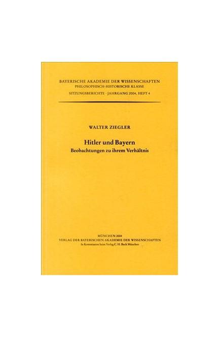 Cover: Walter Ziegler, Hitler und Bayern